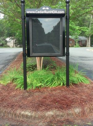 Outdoor Message Center – Double Sided